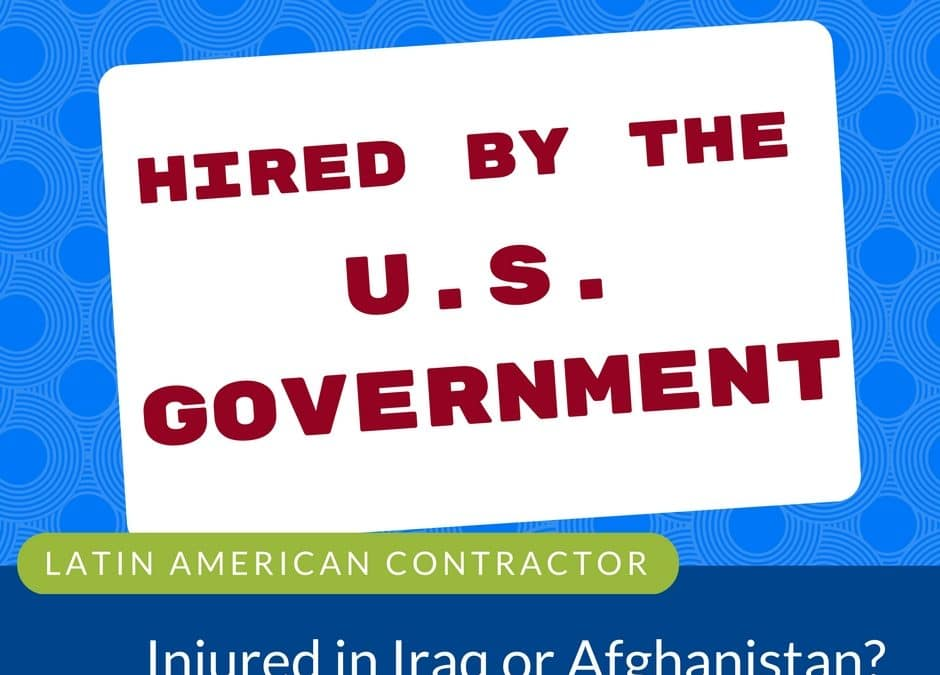 Latin American Contractors Injured in Iraq or Afghanistan