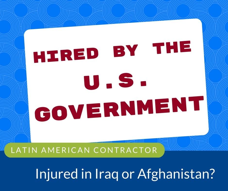 latin american contractor injured iraq