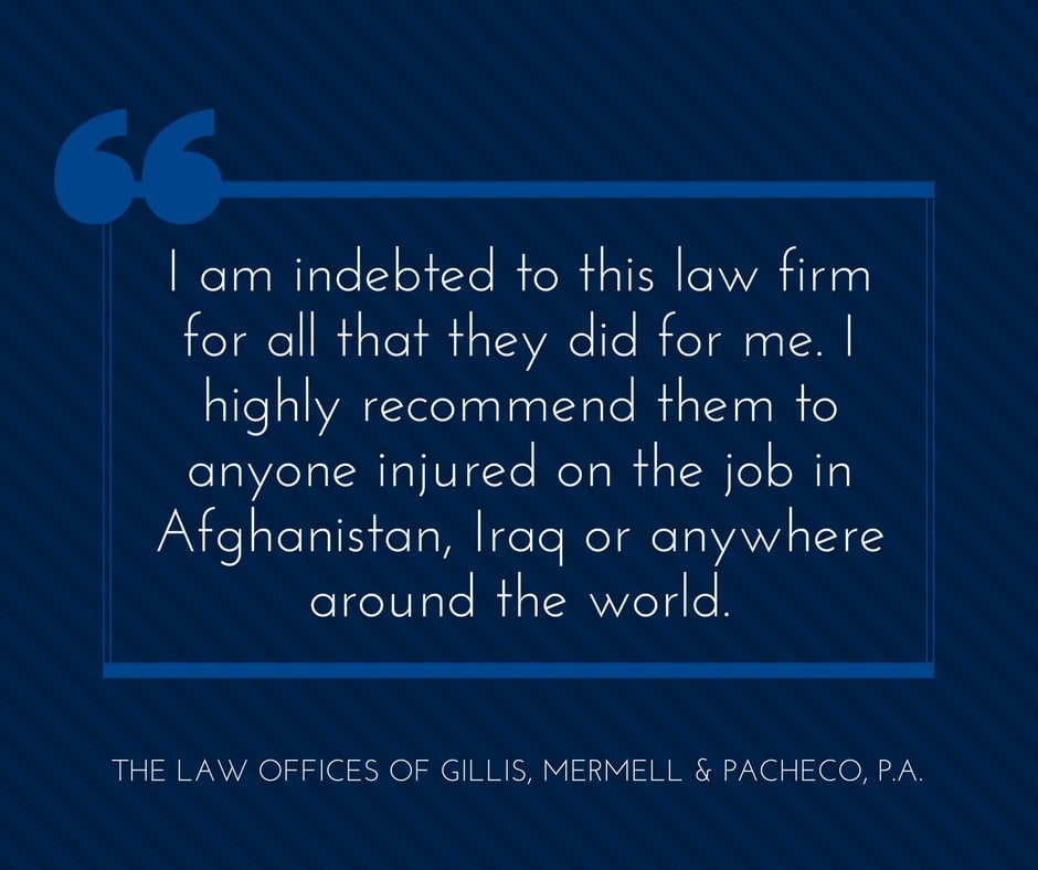 confident defense base act lawyers testimonial