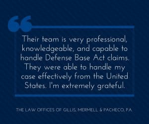 Professional Knowledgeable Capable Defense Base Act Lawyer