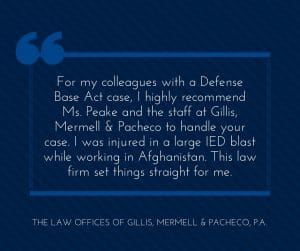 Great DBA Lawyers for Colorado Contractors Injured in Afghanistan