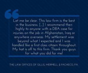 My Virginia Defense Base Act Lawyer Did Very Good Job