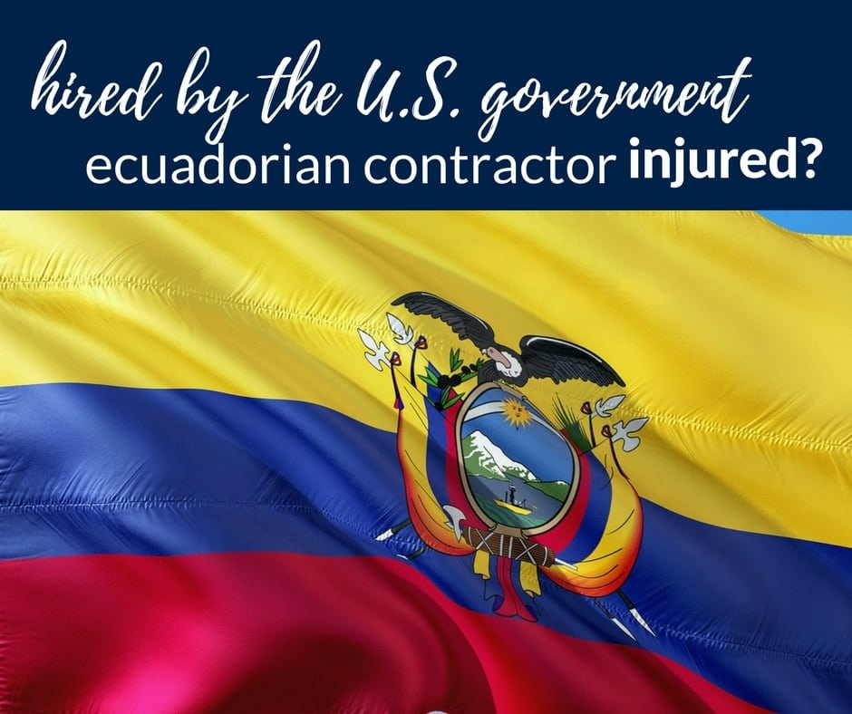 injured ecuadorian contractor working usa government