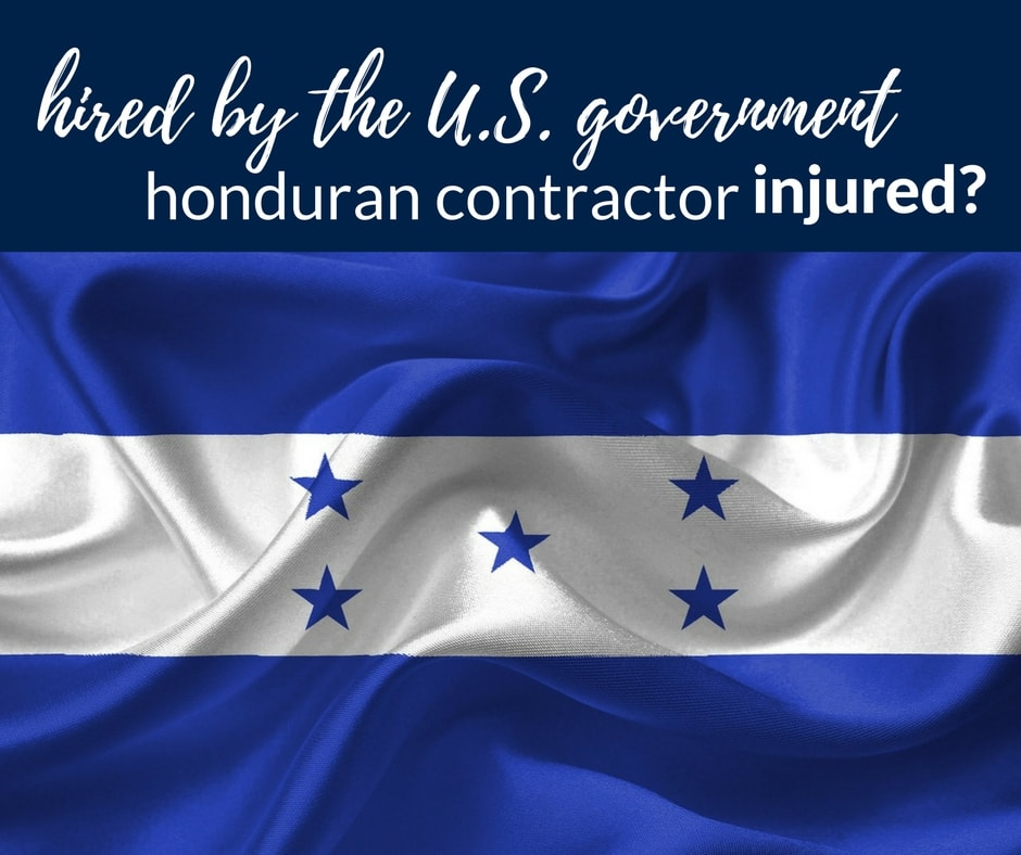 injured honduran contractor working government usa