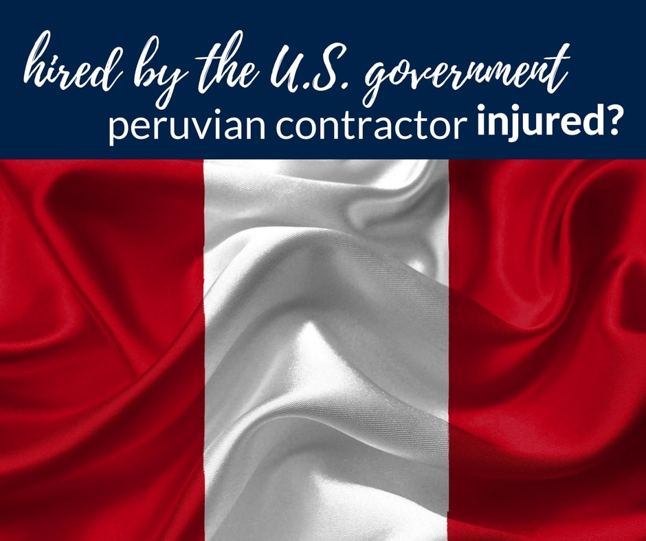 injured peruvian contractor working government usa
