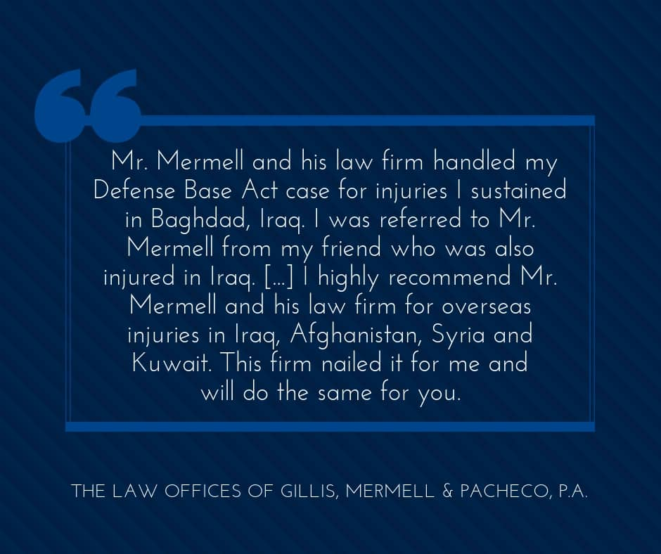 DBA law firm nailed it for injuries in Iraq