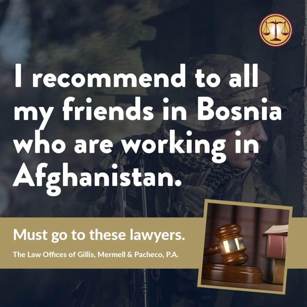 dba lawyers bosnia worker injured