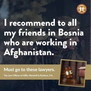 Great Lawyers for Bosnian Injured in Afghanistan
