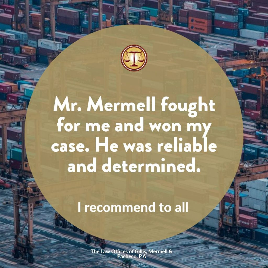 reliable determined longshoremen lawyer