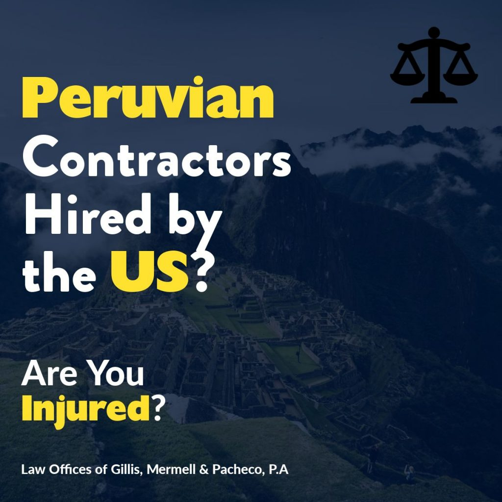 peruvian contractors injured dba lawyers