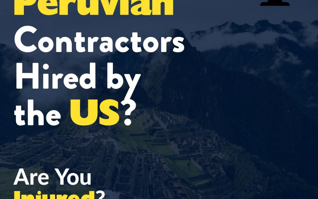Peruvian Contractors Hired by USA to Work in Danger Zones